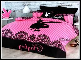 Playboy Bunny Comforter Set Playboy Bedding Sets Spillo Caves