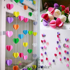 paper decorations 3d heart paper garland party decoration 3meters