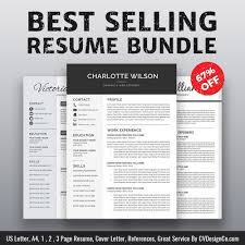 professional resume template bundle cv bundle instant download