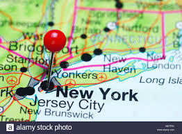 A Map Of New York by New York Pinned On A Map Of Usa Stock Photo Royalty Free Image
