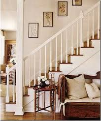 Up The Stairs Wall Decor Our Stenciled Stairs And Hand Painted Wall My Primitive Place