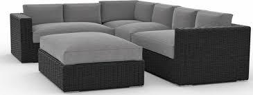 Patio Furniture With Sunbrella Cushions Toja Patio Furniture Yorkville 5 Outdoor Sectional Sofa Set