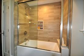 tiling bathroom walls ideas tile tub surround plank tile tub surround project contemporary