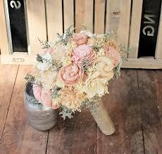bridesmaid bouquet handmade alternative wedding bouquet ivory blush bridal