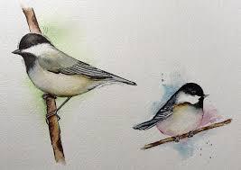 watercolor tutorial chickadee carolina chickadee snehal kank