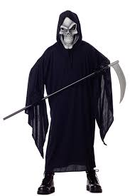 Boys Skeleton Halloween Costume Amazon Com California Costumes Grim Reaper Child Costume Large