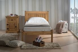 Mexican Pine Bedroom Furniture by Birlea Rio 3ft Single Wooden Bed Waxed Pine Amazon Co Uk