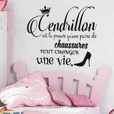 stickers pour chambre ado sticker citation cendrillon stickers chambre ado fille ambiance