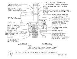 bond beam u2013 with wood parapet 12 x 4 x 16 omniblock