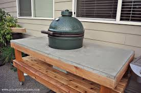 large green egg table ana white diy big green egg grill table with concrete top diy