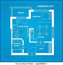 floor plan blueprint vector clip of apartment floor plan blueprint vector