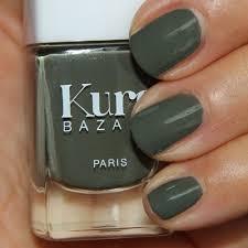 kure bazaar natural nail polish green khaki