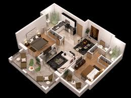 detailed floor plan 3d cgtrader