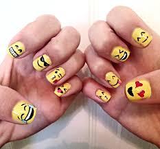 emoji nails my nail art pinterest emoji nails yellow nails