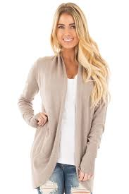 Draped Cardigan Sweater Mocha Soft Knit Long Sleeve Open Drape Cardigan Lime Lush Boutique