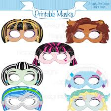 monster girls printable masks printable masks monster masks