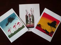painted cards for sale handmade in kenya notecards for sale world scholarship initiative