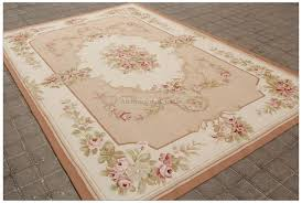 Area Rug 6x9 6x9 Pastel Antique Aubusson Area Rug Wool Flat Weave Home