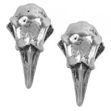 skull stud earrings rabeschadel pewter skull stud earrings jewelry earrings
