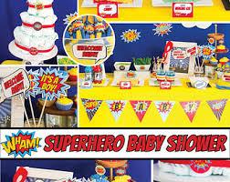 Batman Baby Shower Decorations Superhero Baby Etsy