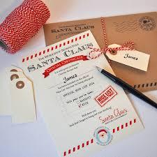 personalised nice list certificate from santa nice list
