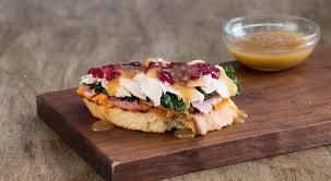 thanksgiving leftover open faced sandwich la bakery