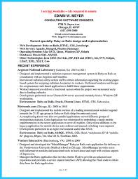 Resume Objective For Experienced Software Developer Ruby On Rails Resume Free Resume Example And Writing Download