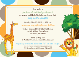 jungle themed baby shower invitations landscape lighting ideas