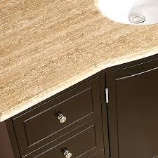 silkroad 60 inch single sink bathroom vanity dark walnut finish