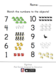 match the numbers worksheet what u0027