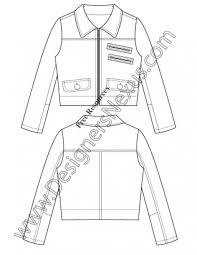 v34 jacket vector drawing illustrator flat fashion sketch template