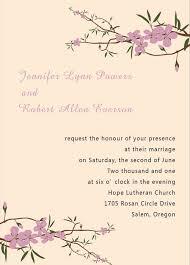 cherry blossom wedding invitations inexpensive cherry blossom wedding invitation card ewi080