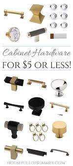 brass and black kitchen cabinet hardware on trend cabinet hardware for 5 or less house of