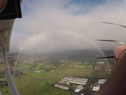 this is what a rainbow looks like from a small airplane imgur
