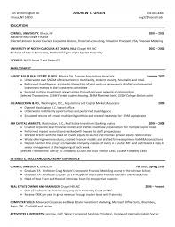 Investment Bank Resume Template Resume Template Investment Banking Cover Letter Template Banking