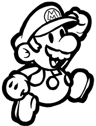 how to draw classic mario bros or paper mario with easy step by