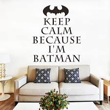 poster wallpaper picture more detailed picture about 2015 new 2 2015 new 2 size keep calm because i m batman wall sticker high quality usa