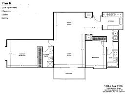 villa bay view floor plan k