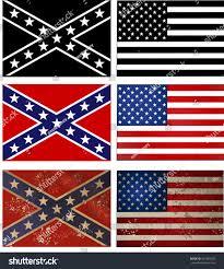 Confederate States Flags Confederate Flag Vs Union Flag Civil Stock Vector 261360206