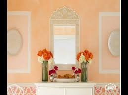 Faux Color Washing - color wash walls use slightly lighter shades in bath and