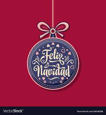 feliz navidad christmas card feliz navidad card on language vector image