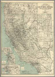 Map Of California And Oregon by Map Of California Nevada And Southern Oregon David Rumsey