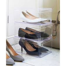 Sho Clear clear shoe box for shoes with small ventilation holes in