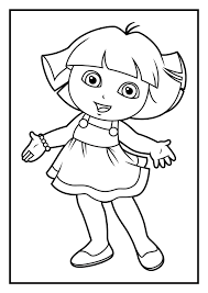 dora coloring pages games funycoloring
