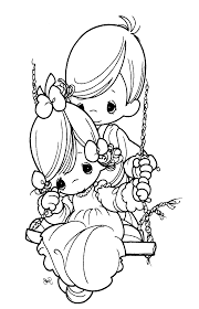 how to draw precious moments coloring page free download