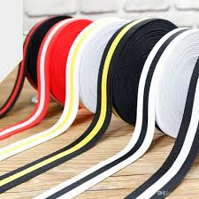 crochet elastic ribbon 2 5cm striped crochet high elastic band wide flat ribbons diy
