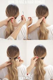 ponytails how to use a hair bungee and hide your hair