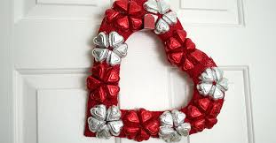 candy wreath 2 heart shaped s day wreaths the dollar tree