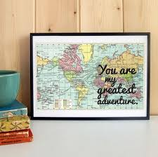 paper anniversary gifts for husband best 25 map anniversary gift ideas on one year