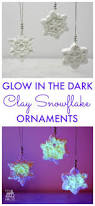 glow in the dark clay snowflake ornaments snowflake ornaments